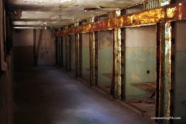 Death row at Eastern State Penitentiary.