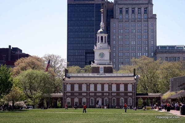 Independence Hall in downtown Philadelphia