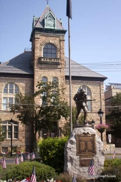 The Monroe County Courthouse in downtown Stroudsburg, PA.