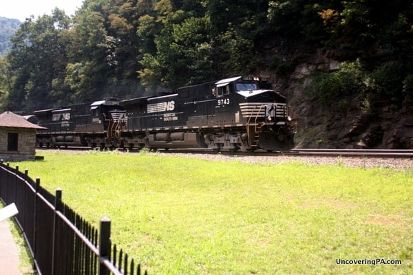 Visiting the Horseshoe Curve in Altoona, Pennsylvania.