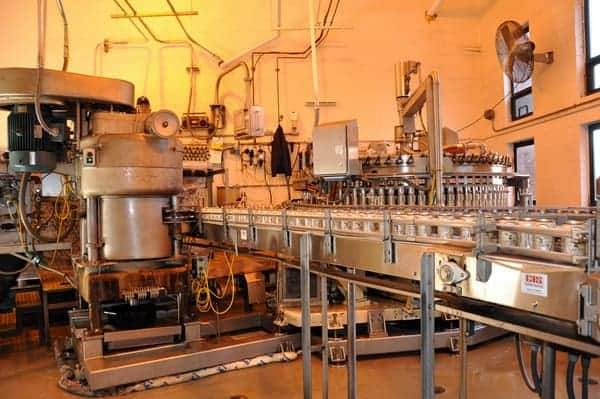 The bottling line at Yuengling Brewery in Pottsville, PA.