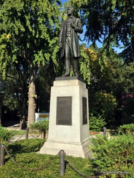 Pennsylvania's Disappearing History - A statue to Governor Curtin marks the location of Camp Curtin.
