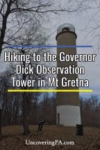 Hiking to the Governor Dick Observation Tower in Mount Gretna, Pennsylvania