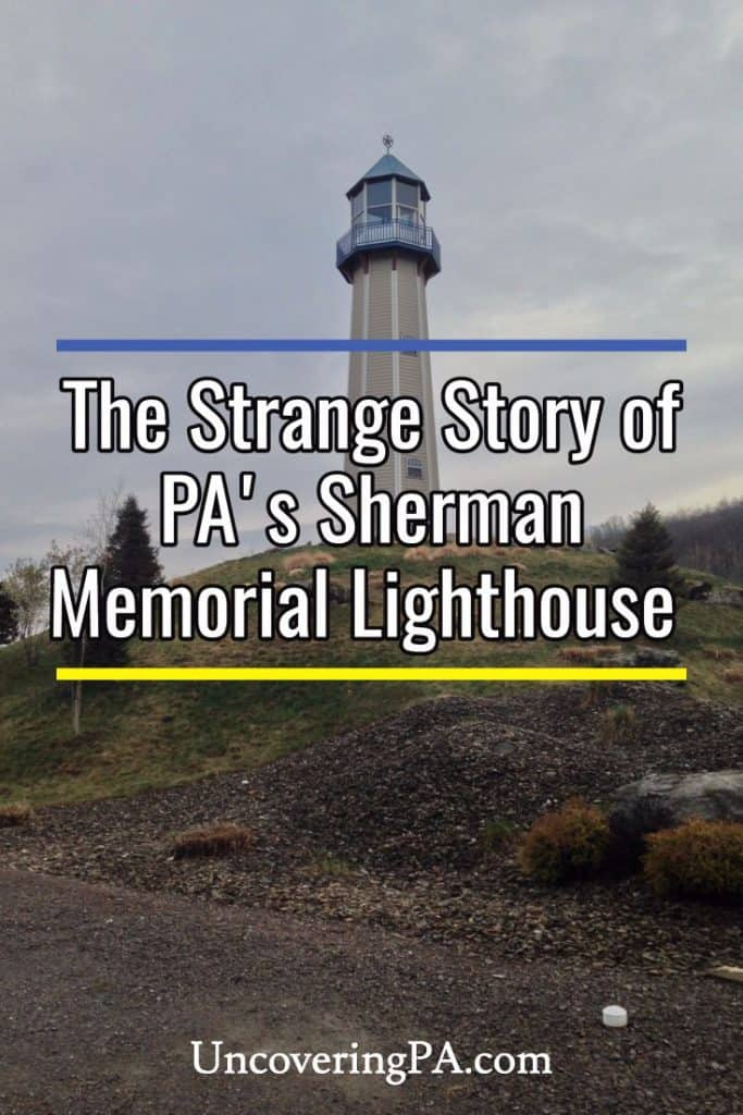 The Sherman Memorial Lighthouse in Tionesta, Pennsylvania