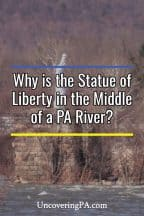 The Statue of Liberty in Harrisburg, Pennsylvania
