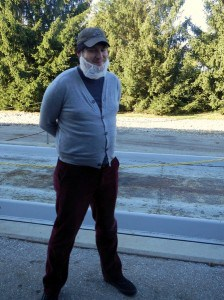 All decked out for the Martin's Potato Chip Factory Tour, complete with a beard net that makes me look like an old Amish man.