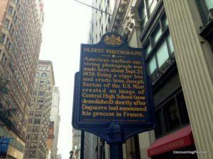 The oldest still existing photograph taken in America was taken in Philadelphia.
