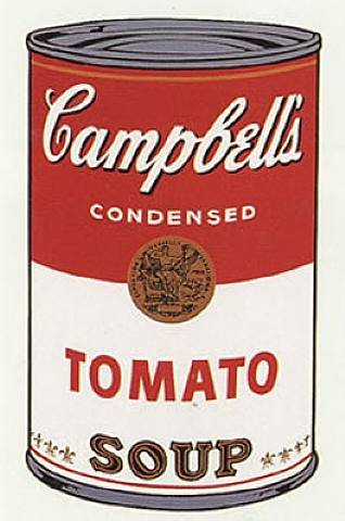 Andy Warhol's iconic Campbell's Soup can print.