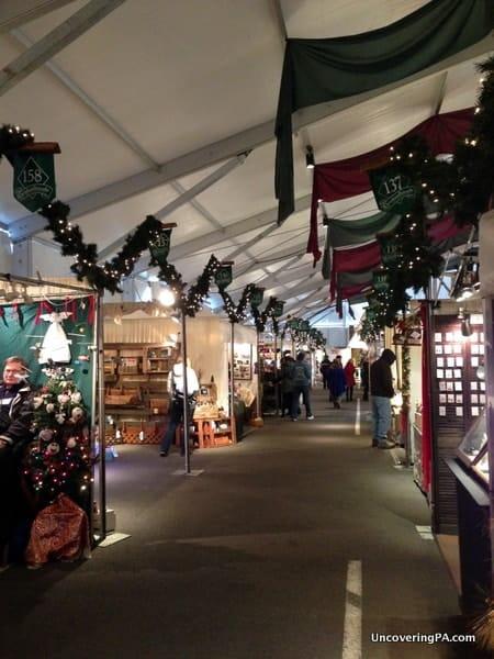 Another section of vendors at Bethlehem's Christkindlmarkt.