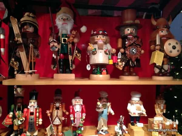 A row of nutcrackers does not constitute an authentic German Christmas market.