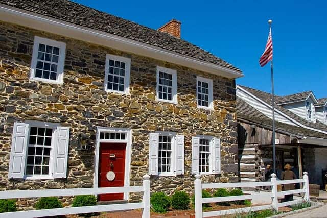 Exterior of the Dobbin House in Gettysburg PA