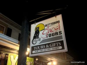 Taking a ghost tour of Gettysburg, Pennsylvania with Gettysburg Ghost Tours.