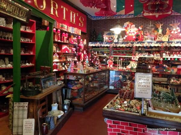 The recreated Woolworth's 5 & 10 cent store in the National Christmas Center.