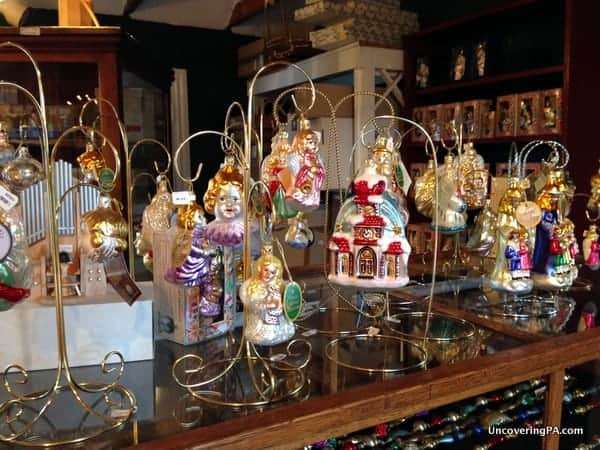 Beautifully handcrafted ornaments at The Christmas Haus in New Oxford, Pennsylvania.