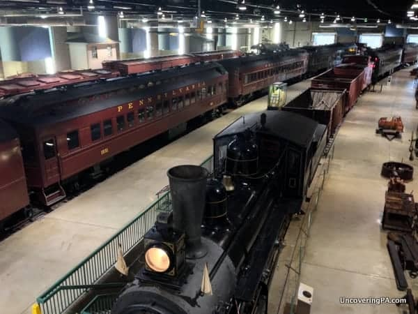 Less than half of the gigantic display of trains at the Railroad Museum of Pennsylvania.