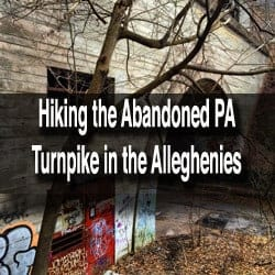 How to get to the Abandoned PA Turnpike near Breezewood, Pennsylvania.