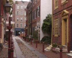 Taking a Stroll Down Elfreth's Alley in Philadelphia
