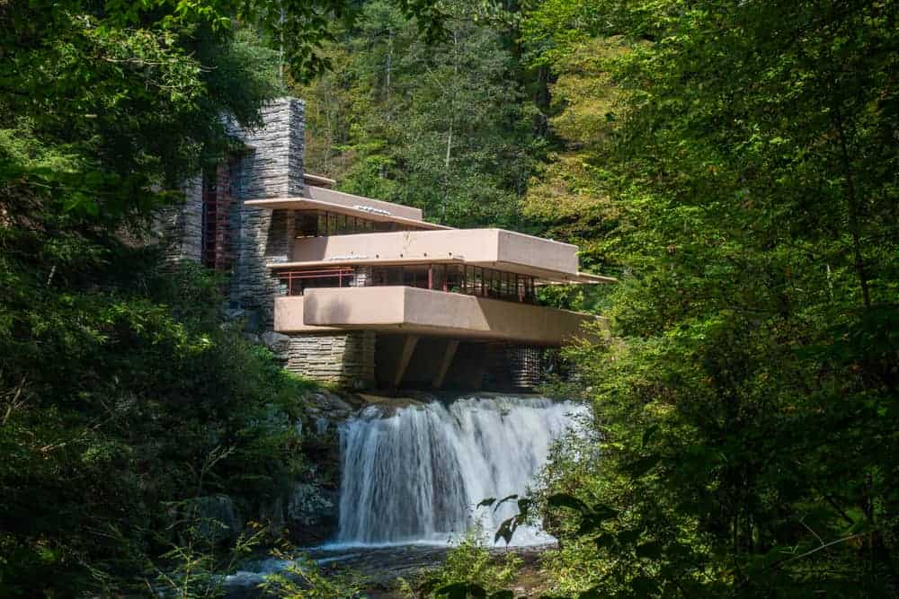 Visiting Frank Lloyd's Wright's Fallingwater in Pennsylvania.