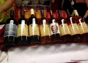 A selection of wines from the Groundhog Wine Trail Festival.