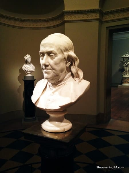 Bust of Benjamin Franklin at the Philadelphia Museum of Art.