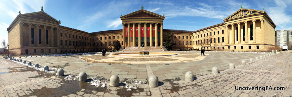 Visiting the Philadelphia Museum of Art in Philadelphia, Pennsylvania.