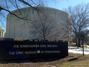 Visiting the State Museum of Pennsylvania in Harrisburg, Pennsylvania.