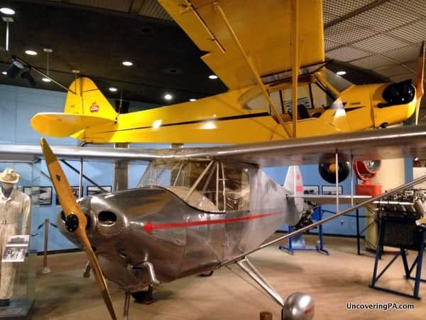 Several of the aircraft on display at the State Museum of Pennsylvania in Harrisburg, Pennsylvania.