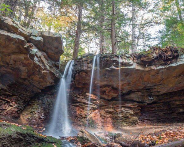Adams Falls in Westmoreland County, Pennsylvania