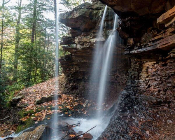 How to get to Adams Falls in Linn Run State Park