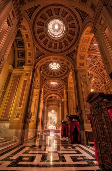 Inside the Cathedral Basilica of Saints Peter and Paul in Philadelphia, Pennsylvania
