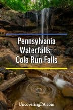 Cole Run Falls in Pennsylvania