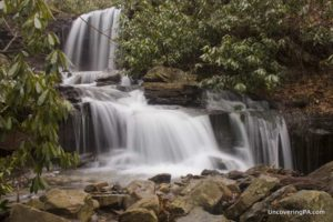 Cole Run Falls in Forbes State Forest, Somerset County, Pennsylvania.