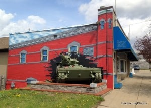 A tank explodes from the entrance to the Eldred World War Two Museum in McKean County, Pennsylvania.