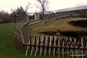Visiting Fort Ligonier in Westmoreland County, Laurel Highlands, Pennsylvania.