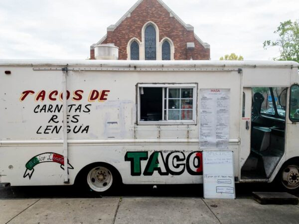 Front of the Harrisburg taco truck of Masa Authentic Mexican Cuisine
