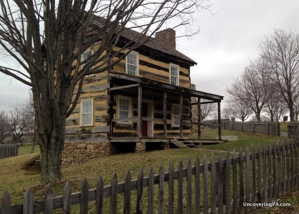 The 1830s farmhouse that stands on the grounds of the Somerset Historical Center.