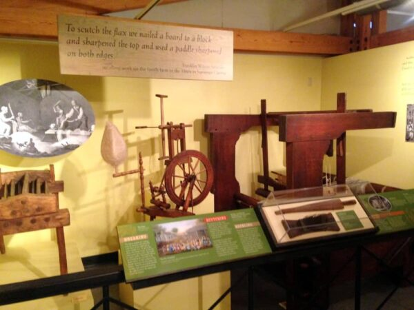 Signs and displays inside the Somerset Historical Center