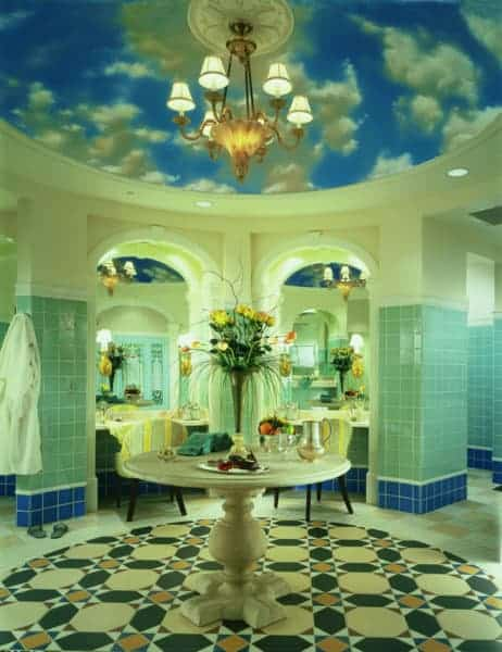 The beautiful changing room at The Spa at the Hotel Hershey.