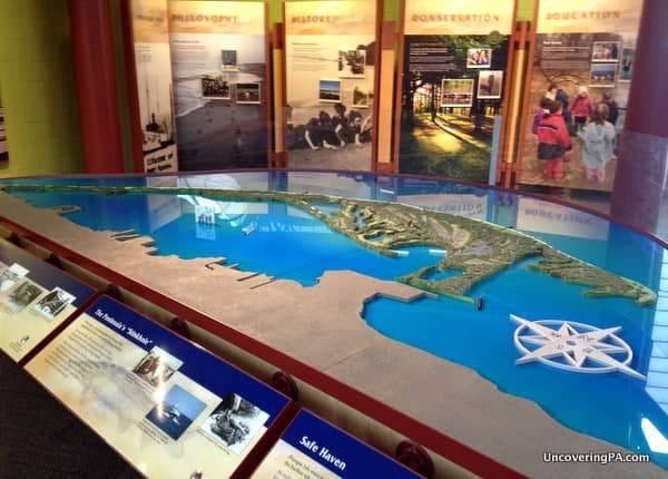 One of the many displays at the Tom Ridge Environmental Center at Presque Isle's museum in Erie, Pennsylvania.