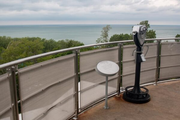 The view from the top of the free observation tower at the Tom Ridge Environmental Center in Erie, Pennsylvania