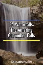 Pennsylvania Waterfalls: Cucumber Falls in Ohiopyle State Park