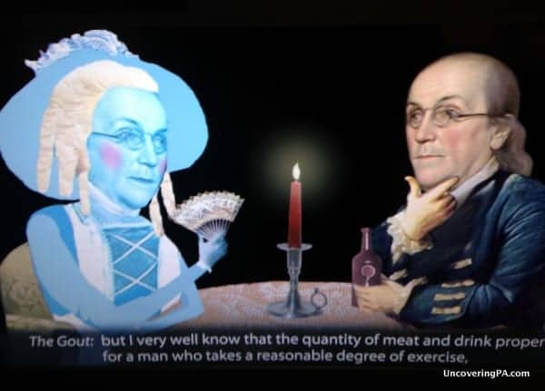 A still from one of the many videos at the Benjamin Franklin Museum in Philadelphia Pennsylvania
