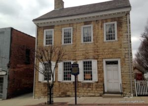 Learning about the Whiskey Rebellion by visiting the The Bradford House in Washington, Pennsylvania.