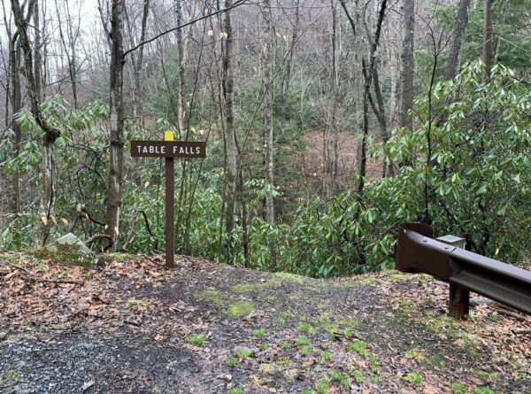 Parking for Table Falls in the Quehanna Wild Area