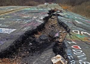 Visiting Centralia, Pennsylvania to see the Graffiti Highway