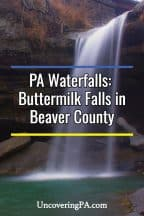 Buttermilk Falls in Beaver County