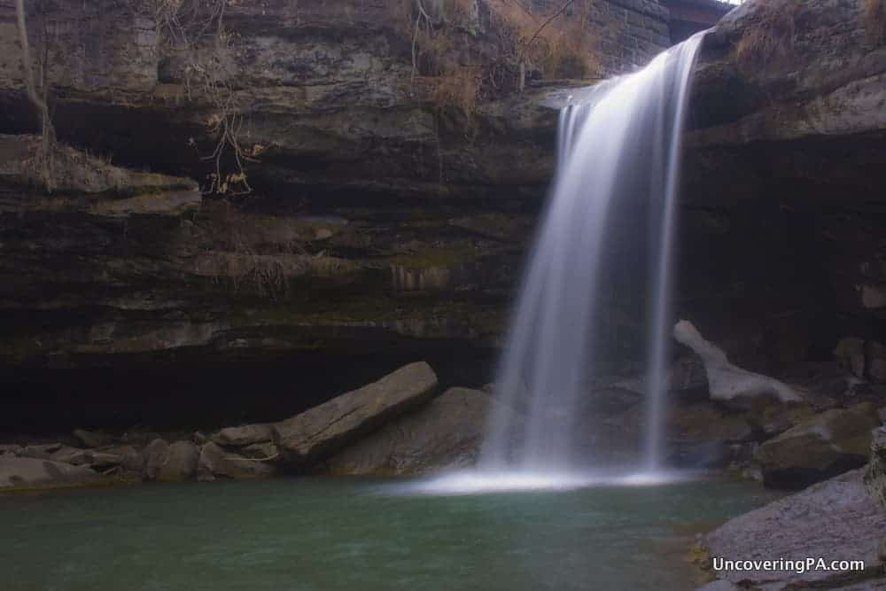 Homestead Falls (also known as Buttermilk Falls) in Beaver County, Pennsylvania.