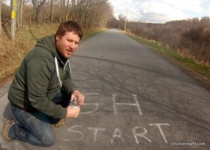 Visiting Gravity Hill in Bedford County, Pennsylvania.