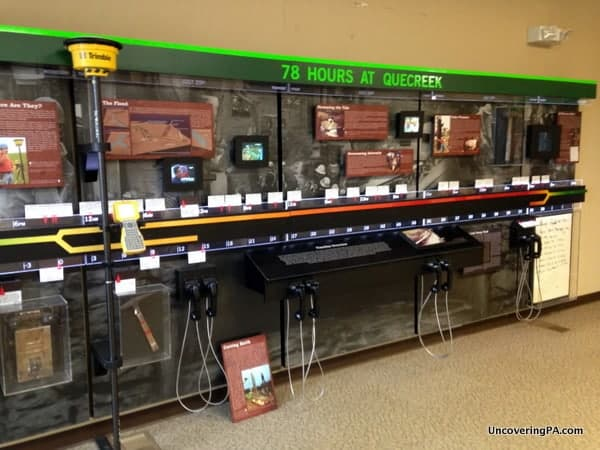 One of the fantastic displays you can see when visiting the Quecreek Mine Rescue Site Visitors Center.