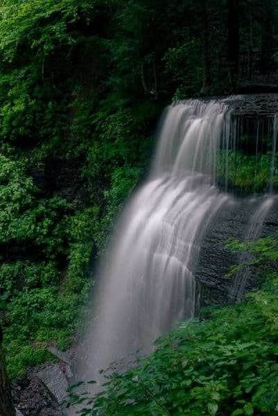 View of Buttermilk Falls in Indiana County, Pennsylvania